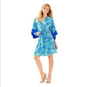 Lily Pulitzer Kimora Kimono sparkling blue dress